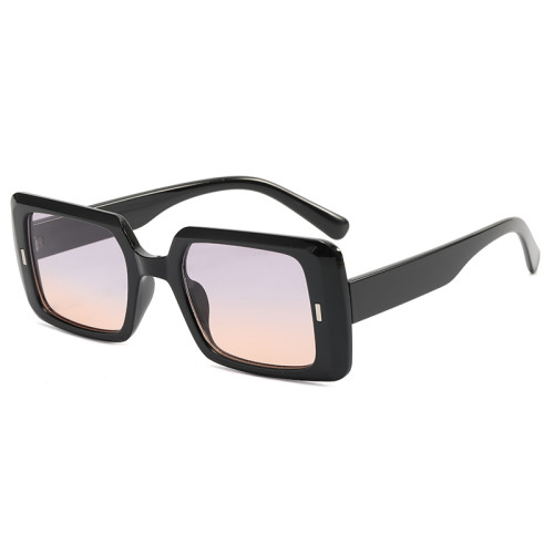 Oversize Rectangle Men Women Sunglasses