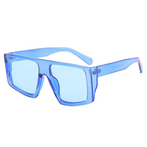 Oversized Flat Top Square Shades Sunglasses