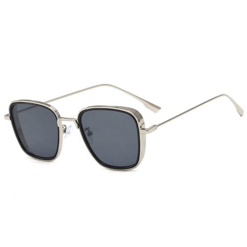 Fashion Men Square Metal Sunglasses