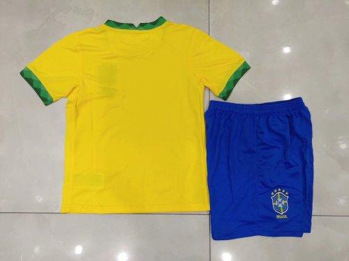 2020 Brazil Home Yellow Kid Kit