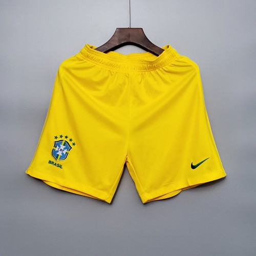 2020 Brazil Home Yellow Shorts