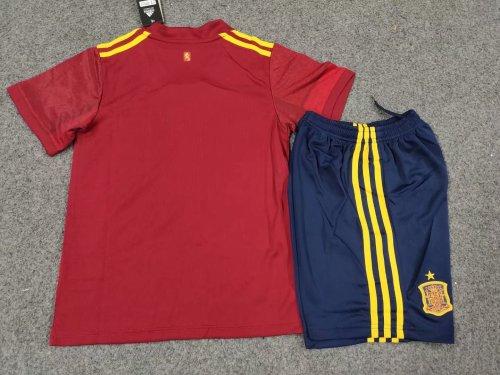 2020 Spain Home Red Kid Kit