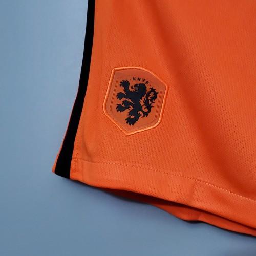2020  Netherlands Home Orange Shorts