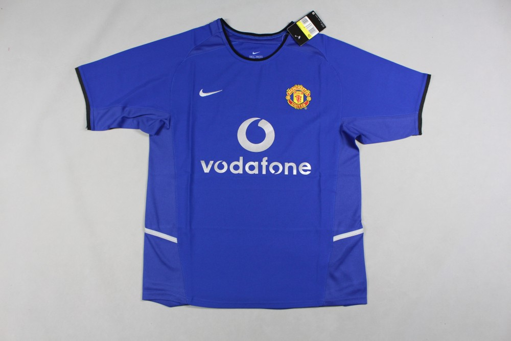 2002-2003 Man united Away Blue Jersey