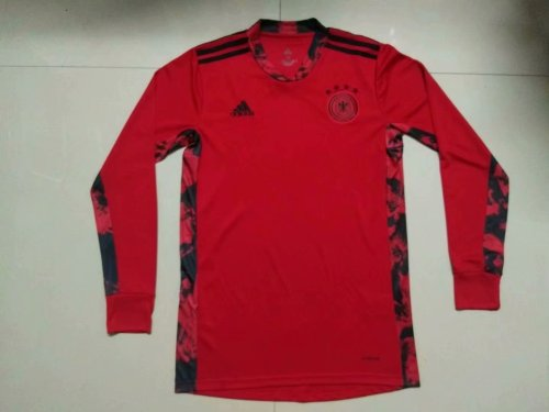 2020 Germany  Red Long Sleeve Jersey