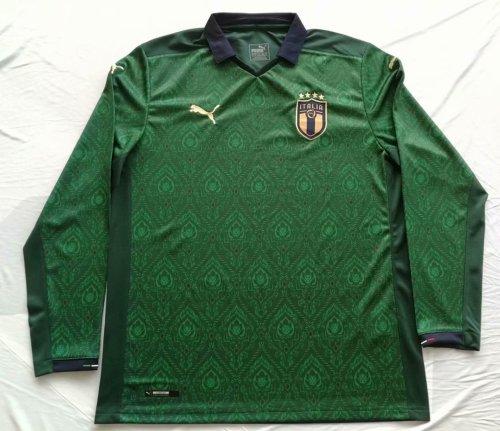 2020 Italy Green Long Sleeve Jersey
