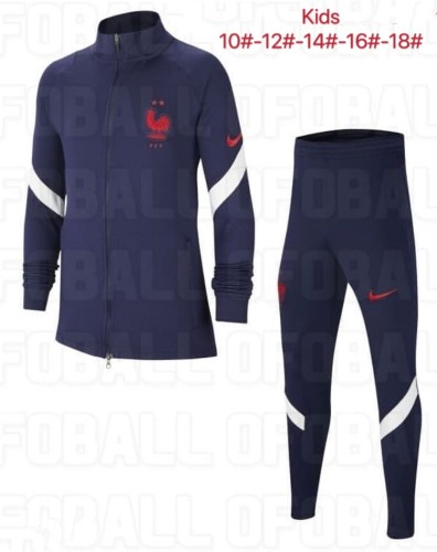 2020 France Blue Kid Jacket Suit