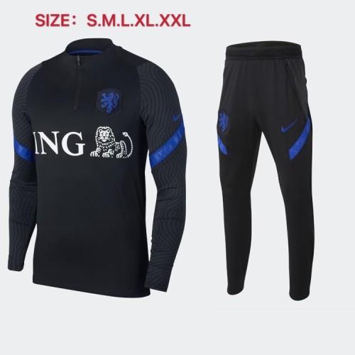 2020 Netherlands Black Training suit