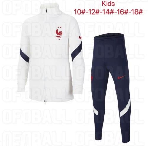 2020 France White Kid Jacket Suit