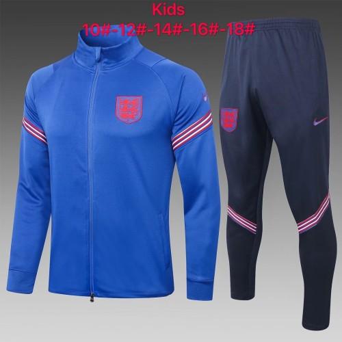2020 England Bright Blue Kid Jacket Suit
