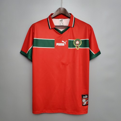 1998 Morocco Away Red Retro Jersey