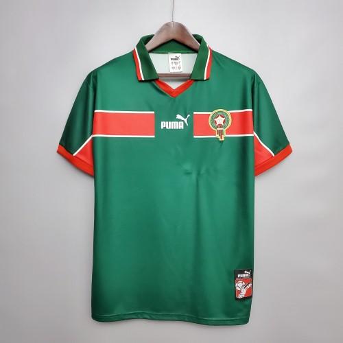 1998 Morocco Home Green Retro Jersey