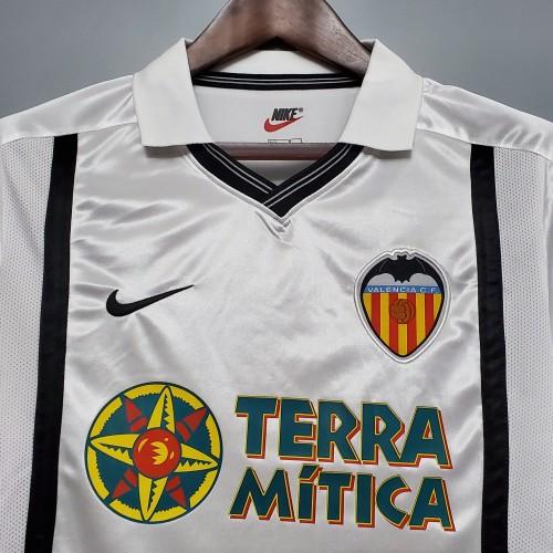 2001 Valencia Home Short Sleeve Retro Jersey
