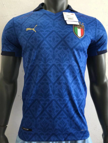 2020 Italy Home Blue Player Jersey