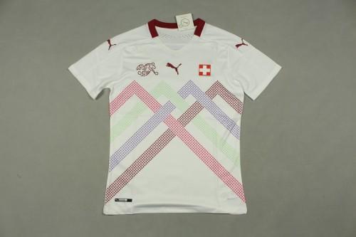 2020 Switzerland Away White Player Jersey