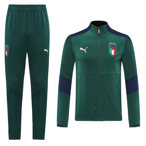 2020 Italy Green Jacket Suit