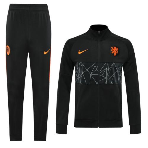 2020 Netherlands Black Jacket Suit