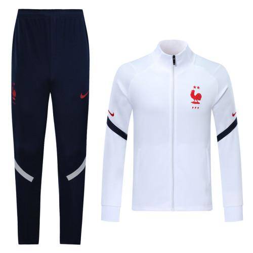 2020 Fracne White Jacket Suit