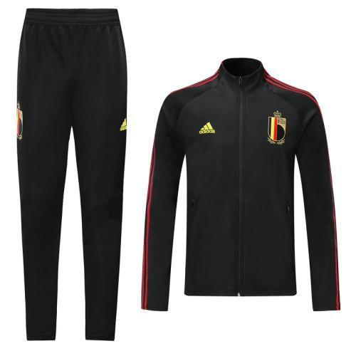 2020 Belgium Black Jacket Suit