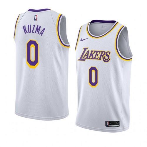 Lakers Retro Round Neck Hot Pressed Jersey
