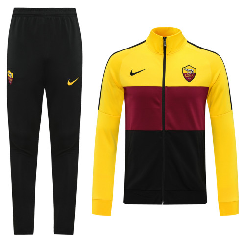 20-21 Roma Black and Yellow Jacket Suit