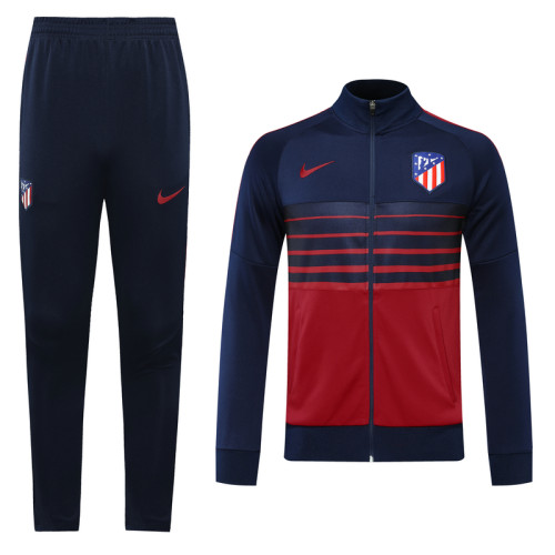 20-21Atletico Madrid Blue and Red  Jacket Suit