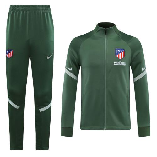 20-21Atletico Madrid Green Jacket Suit