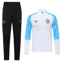 20-21 Man City White and Blue Sleev Jacket Suit