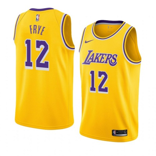 Lakers Yellow Retro Round Neck Hot Pressed Jersey