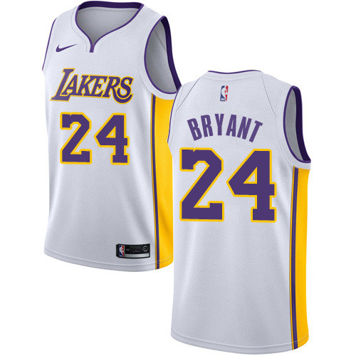 Lakers White V-Neck Hot Pressed Jersey