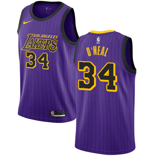 Lakers Violet with Lines Retro Round Neck Hot Pressed Jersey