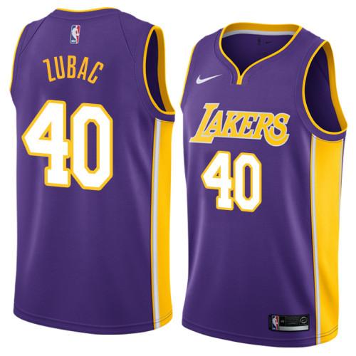Lakers Violet V-Neck Hot Pressed Jersey