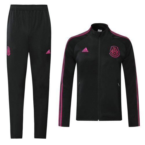 20-21 Mexico Black and Violet Jacket Suit