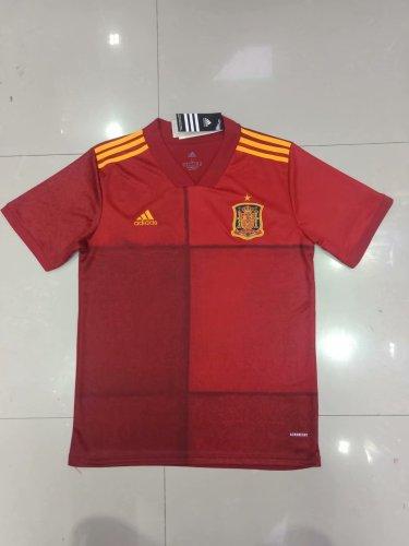 2020 Spain Home Fans Jersey