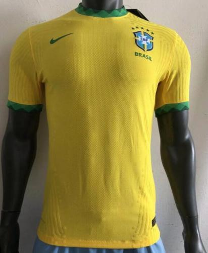 2020 Brazil Home Player Jersey
