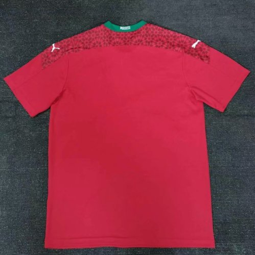 2020 Morocco Home Fans Jersey