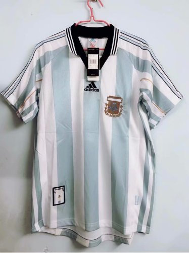1998 World Cup Argentina Home Retro Jersey