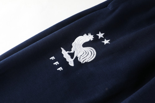 20-21  France Blue Hoodie Suit