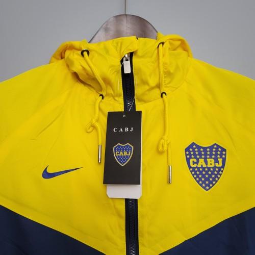 2021 Windbreaker Boca Juniors Blue and Yellow S-XXL