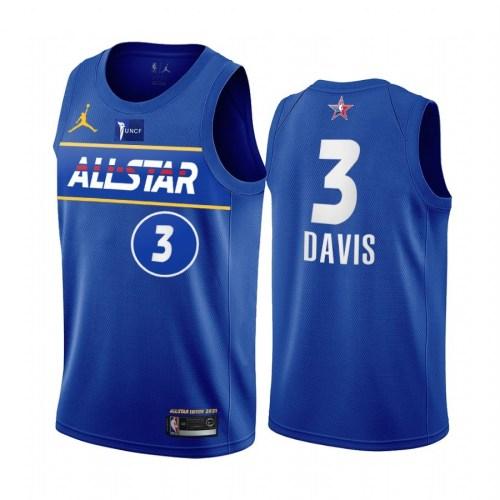 2021 NBA All Star Blue  3#DAVIS Hot Pressed Jersey
