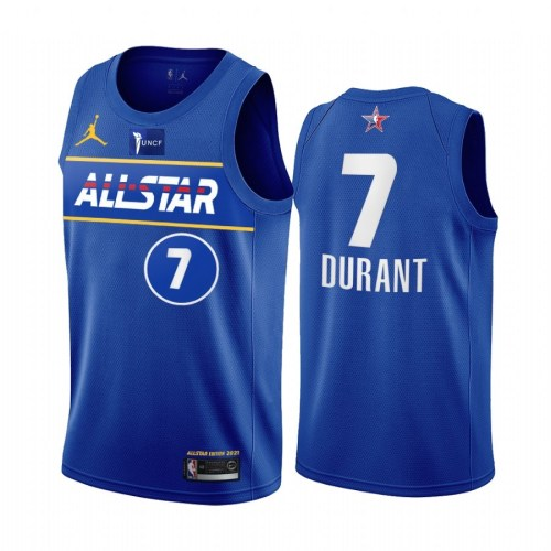 2021 NBA All Star Blue  7#DURANT Hot Pressed Jersey