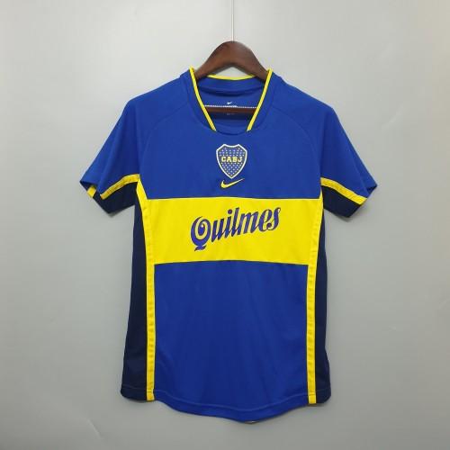 2001 Boca Juniors Home  Retro Jersey