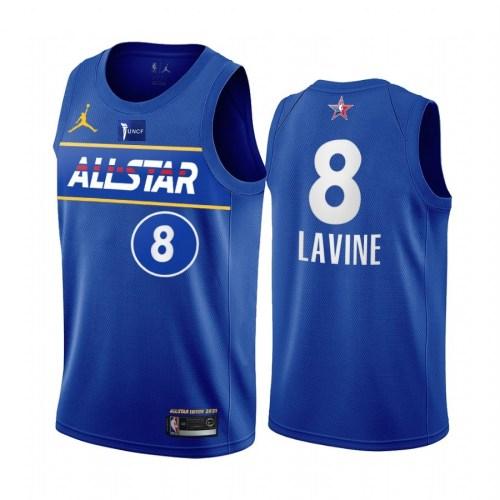 2021 NBA All Star Blue  8#LAVINE Hot Pressed Jersey