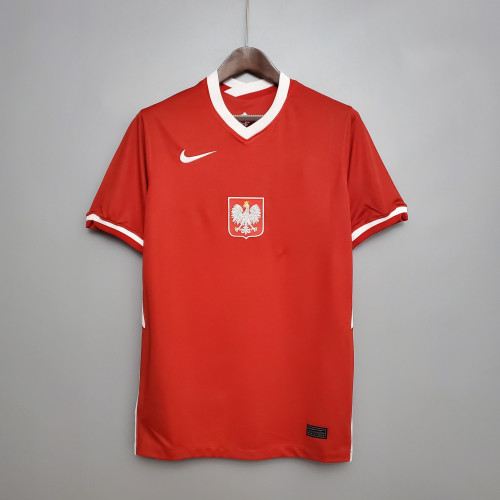 2020 Poland Away Red  Fans Jersey
