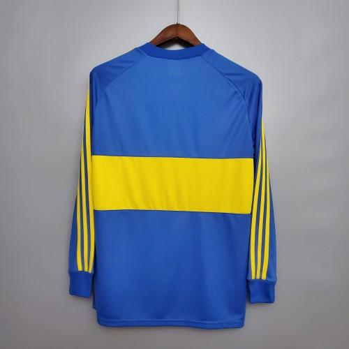 1981 Boca Juniors home Long Sleeve Retro Jersey