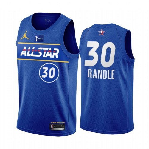 2021 NBA All Star Blue  30#RANDLE Hot Pressed Jersey