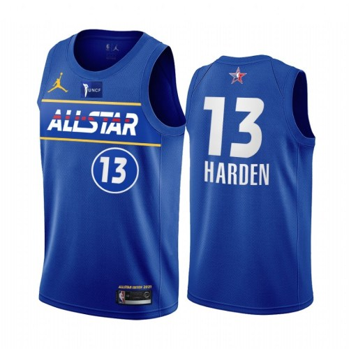 2021 NBA All Star Blue  13#HARDEN Hot Pressed Jersey