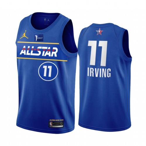 2021 NBA All Star Blue  11#IRVING Hot Pressed Jersey