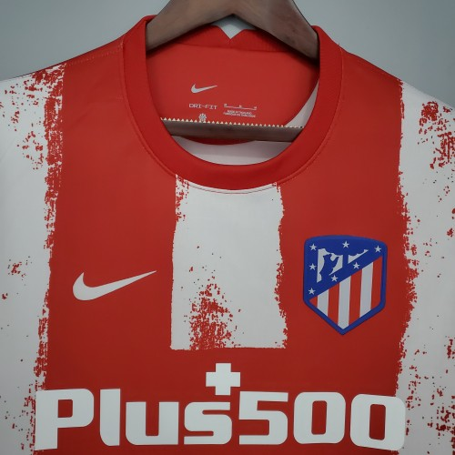21-22 Atletico Madrid Home Fans Jersey