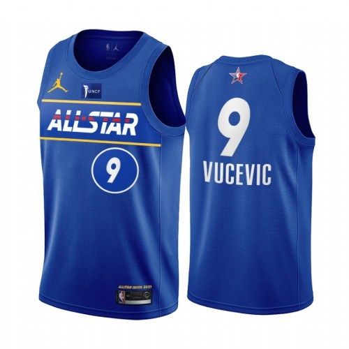 2021 NBA All Star Blue  9#VUCEVIC Hot Pressed Jersey